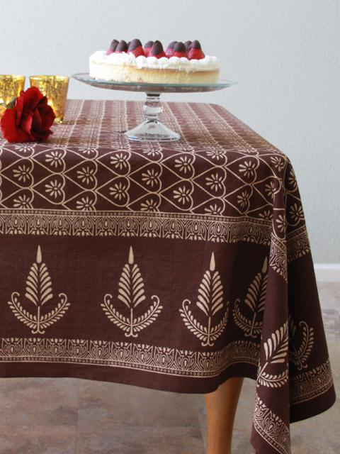Chocolate Tablecloth Dark Brown Tablecloth Romantic