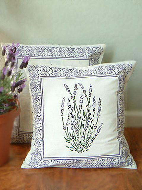 Lavender French Provence Country Cottage Style Cushion