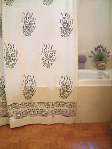 White Shower Curtains, French Shower Curtains, Provence Shower ...