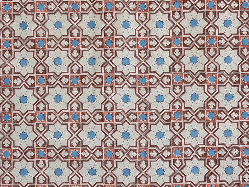 Mosaique Bleue Moroccan Tile Print Blue King Duvet Cover