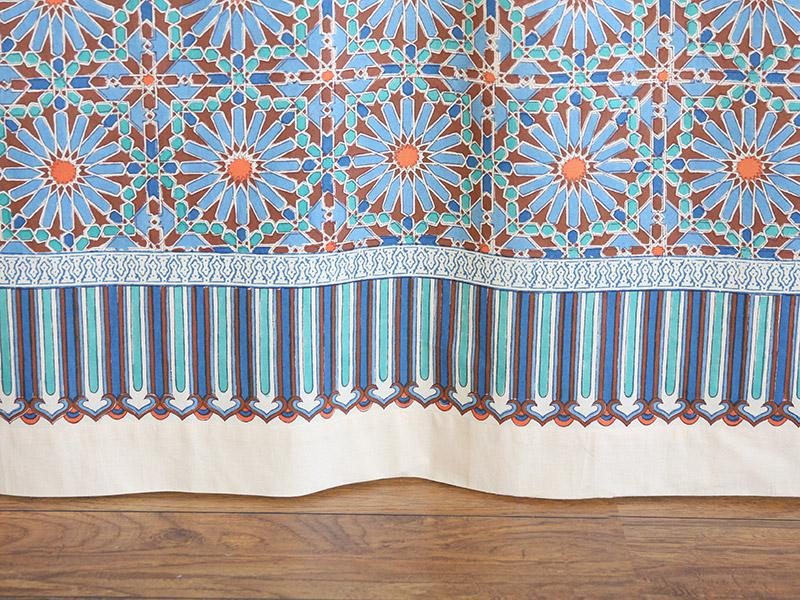 Moroccan Tile Print Sheer Curtain Panel Moroccan Curtain
