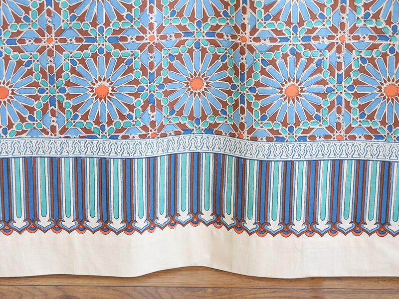 Moroccan tile print shower curtain, Blue shower curtain, Moroccan ...