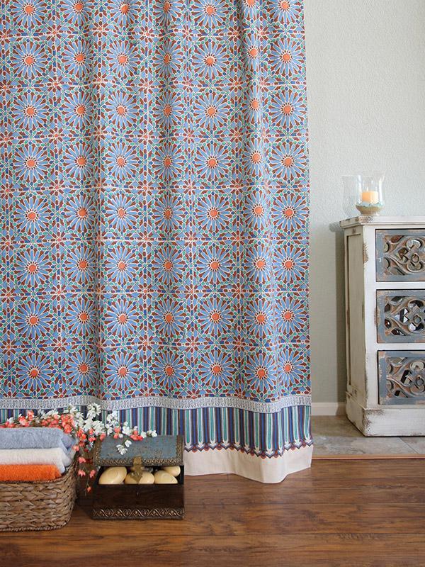 Indian Shower Curtains Batik Shower Curtain Fabric