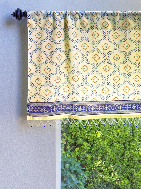 Morning Dew Cp French Country Trellis Yellow Blue