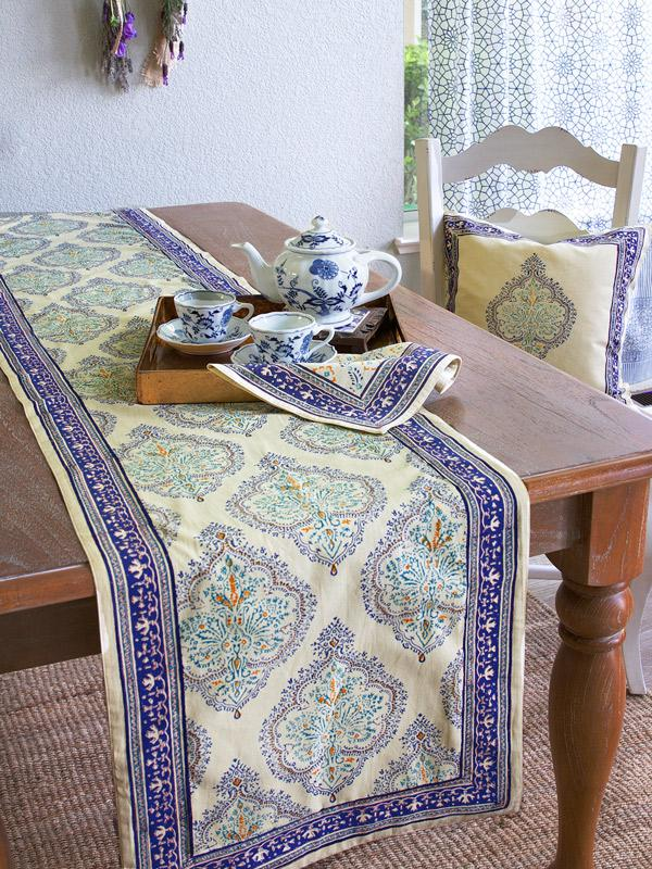 Blue Table Runner Yellow Table Runner Dining Room Table
