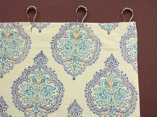 Blue Yellow Shower Curtains, French Shower Curtain, Bath ...