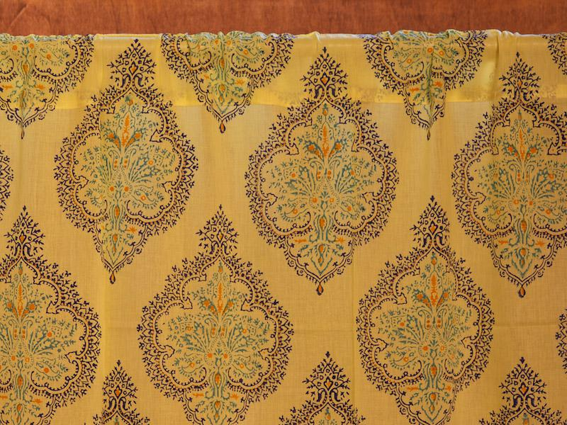 French country curtain, Yellow | Saffron Marigold