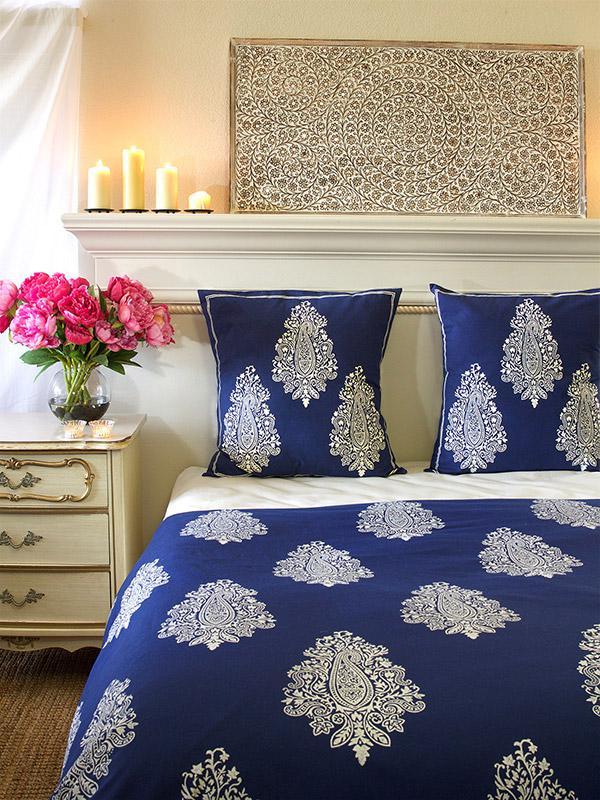 indigo navy blue euro sham white paisley euro sham cover size 26x26 european sham saffron. Black Bedroom Furniture Sets. Home Design Ideas