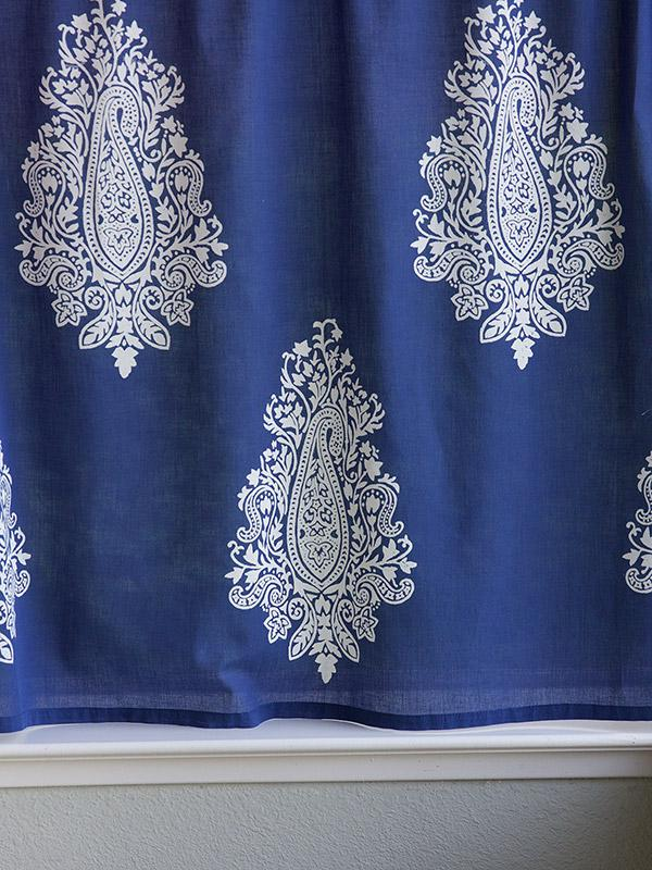 Paisley sheer curtains