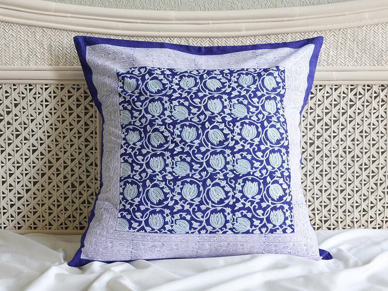 Asian Euro European Pillow Cover Sham Blue Floral 26 X 26