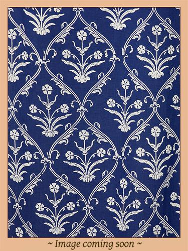Mood IndigoCPModern Navy Blue White Paisley Curtain Panel