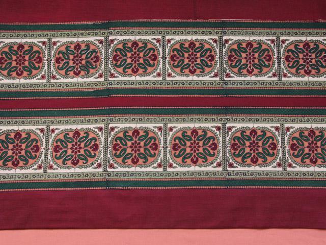 Maharaja Exotic Burgundy Royal Elephant Indian Shower Curtain