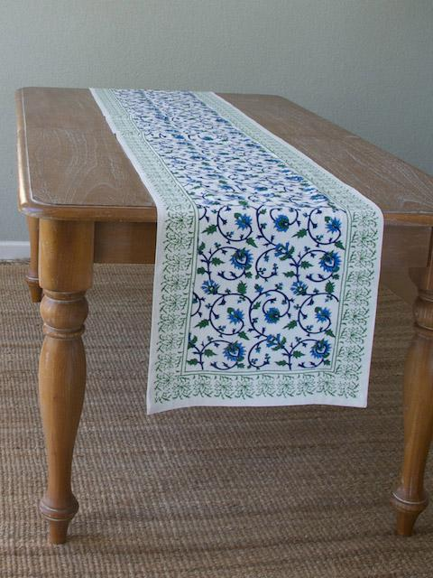 White Table Runner Floral Table Runner Wedding Table
