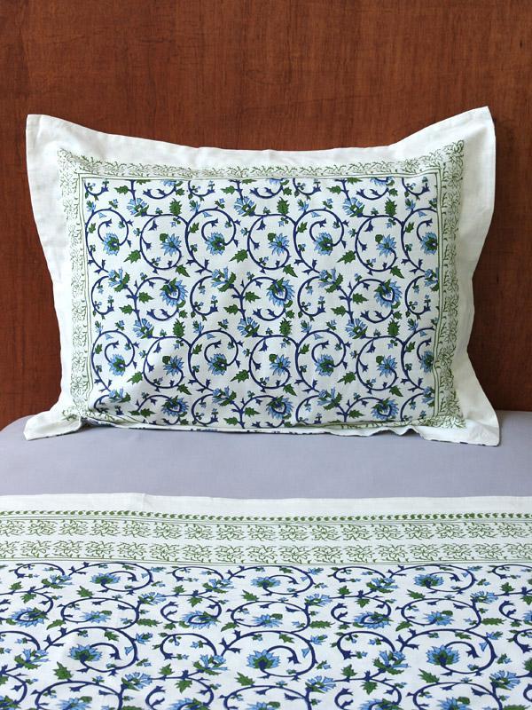standard pillow shams. Decorative Exotic Turquoise Cotton Standard Pillow Sham Cover | Saffron Marigold Shams A