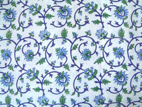 Blue Floral Sheer Window Treatment