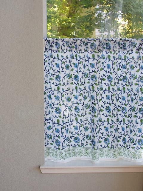Turquoise Kitchen Curtain, Taj Mahal Inspired Kitchen Tier Curtains, Kitchen  Cafe Curtains, Kitchen