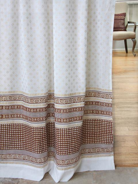 White And Gold Curtain Panels India Inspired Sari Panels