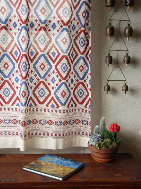 Exotic Decorative Bohemian Colorful Sheer Tab Top Curtain Panels