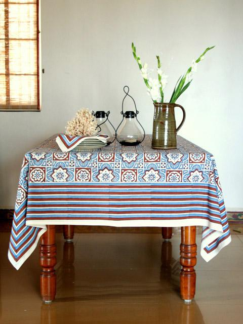 Blue Tablecloth Brown Tablecloth Beach Tablecloth