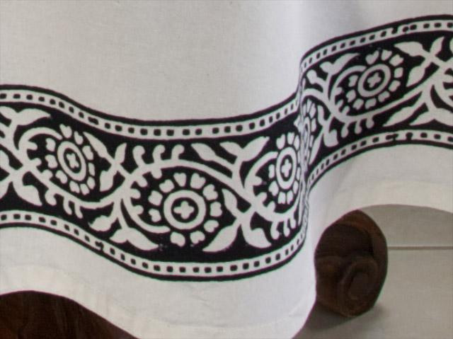Black And White Tablecloth Paisley Tablecloth 90 Round