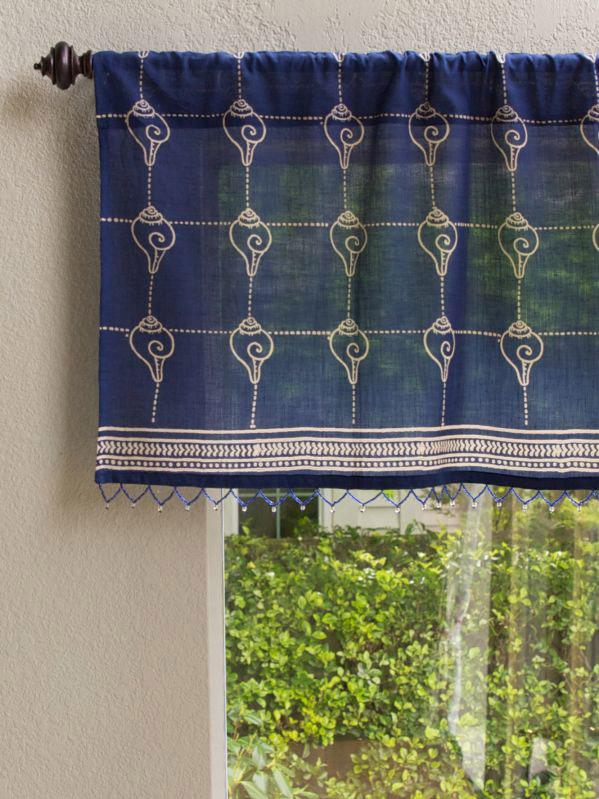 blue window valance blue green pacific blue cp rustic navy ocean asian window valance window valance insipired conch