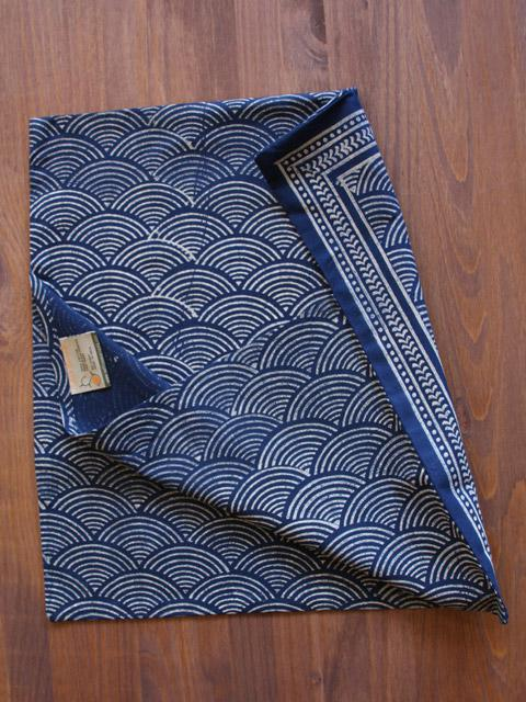 Rustic Navy Blue Throw Asian Insipired Cushion Cover