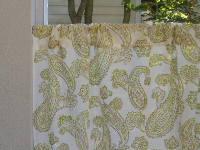 Paisley Curtain, Lime Green Curtain, Cream Curtain, Sheer Curtain ...