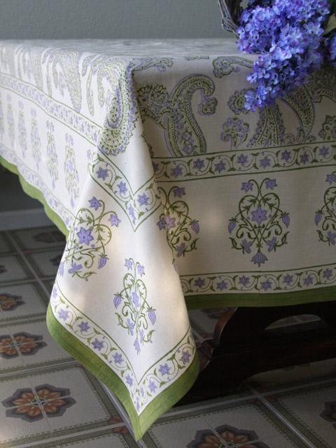 Paisley Tablecloth Lime Green Tablecloth Creamtablecloth