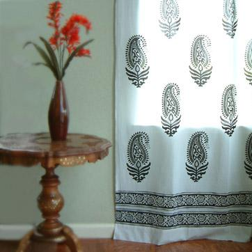 100$ cotton curtains