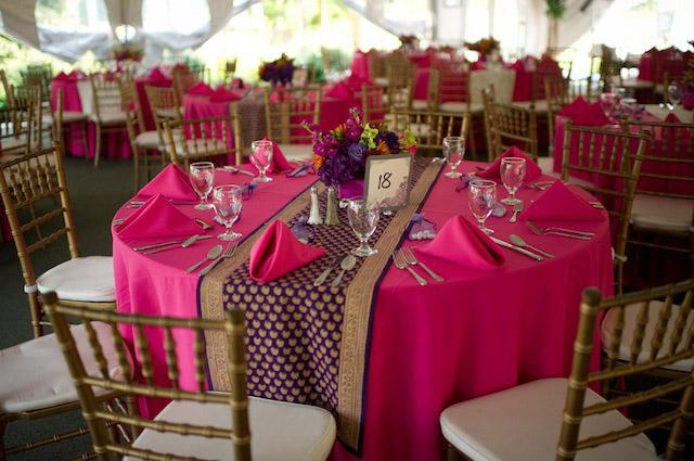 Wonderful Purple Table Runner, Gold Table Runner, Luxury Table Runner | Saffron  Marigold