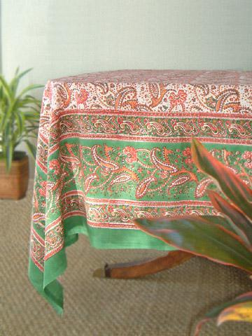 Pink Country Tablecloth Paisley India Table Cloth 90 Round 70 Tablecloths Saffron Marigold