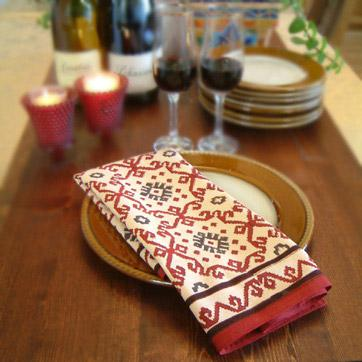 Thanksgiving Napkins, Red Thanksgiving Napkins, Global Thanksgiving Napkins