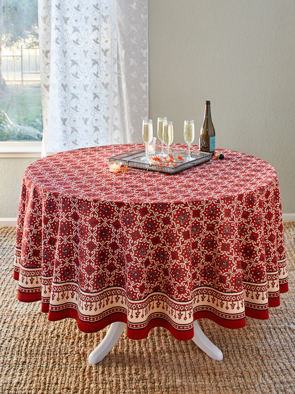 Red Tablecloth Holiday Tablecloth Decorative Tablecloth
