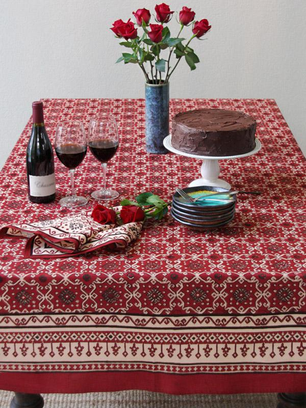 Superbe Red Tablecloth, Holiday Tablecloth, Decorative Tablecloth, Cotton  Tablecloths, Tablecloth Table | Saffron Marigold