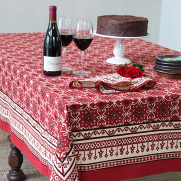 Rustic Red Thanksgiving Tablecloth, Global Tablecloth