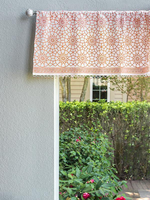 Orange Trellis Curtains