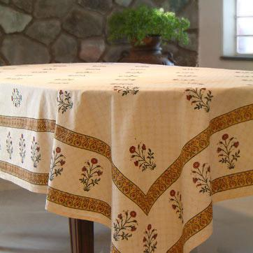 Christmas gift idea red flower tablecloth
