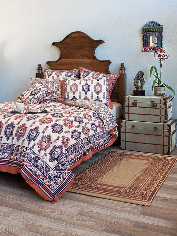 Blue And Orange Duvet Cover