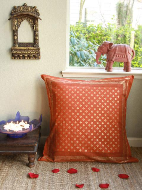 Orange Euro Shams Burnt Orange Euro Cushion Covers Spice