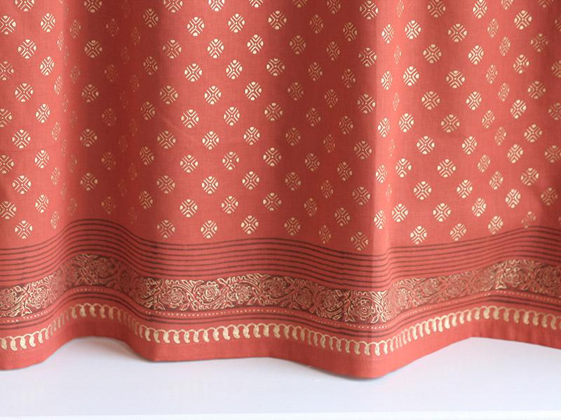 Shimmering Goldstone Orange Gold Sari Kitchen Cafe Curtain Click Any Image For Expanded View