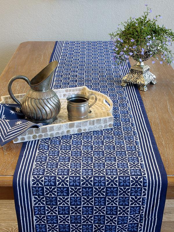 Blue Table Runner Blue Batik Table Runner Pattern Decorative T