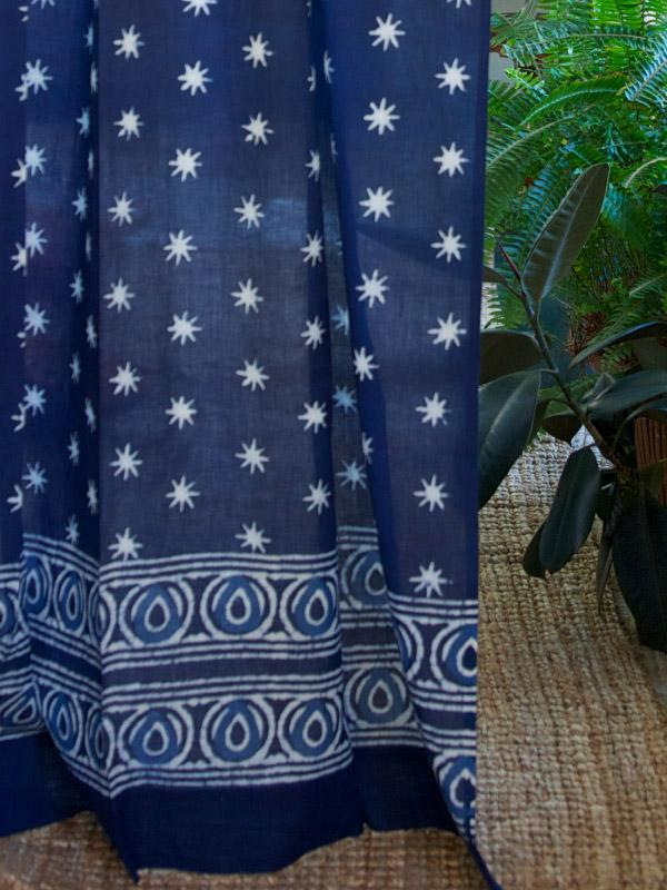 blue batik curtain indigo blue curtain indian curtains rustic style curtains saffron marigold