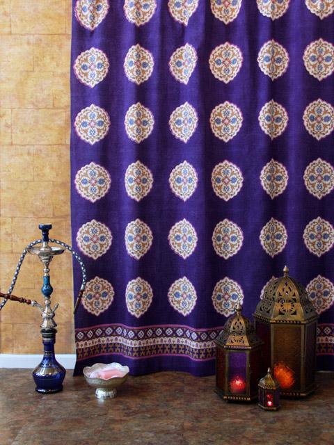 Indian Shower Curtains, Batik Shower Curtain, Fabric Shower
