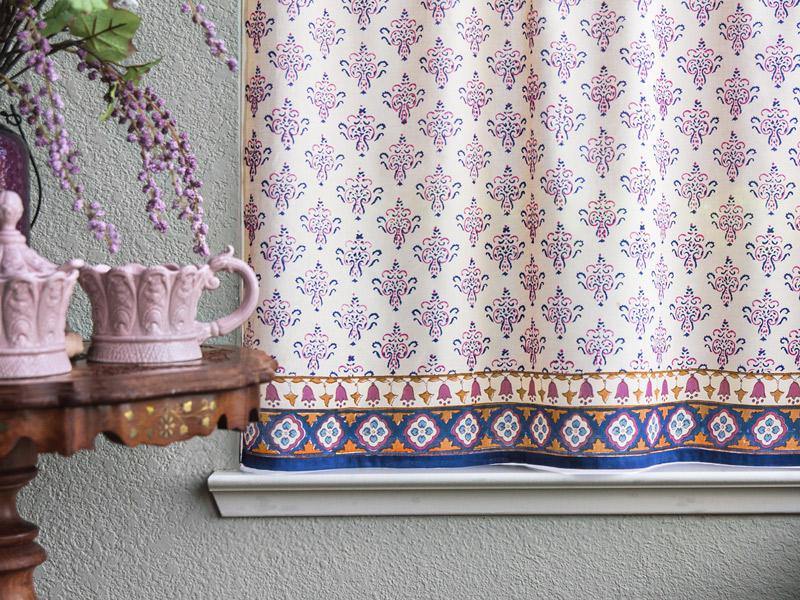~ Moroccan Bohemian Print Kitchen Curtain CP Sultans Palace