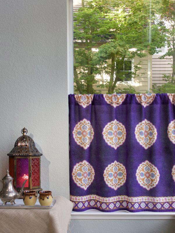 Boho Kitchen Curtain Moroccan Kitchen Tier Curtains