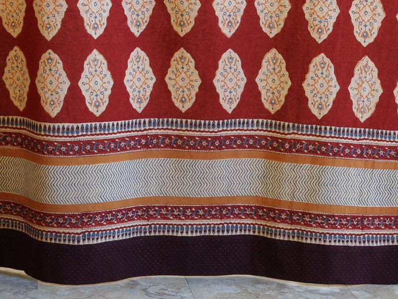 Red Orange Tablecloth Moroccan Indian Tablecloth Holiday