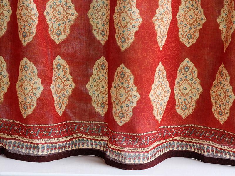 Moroccan Kitchen Curtains Red Orange India Saffron