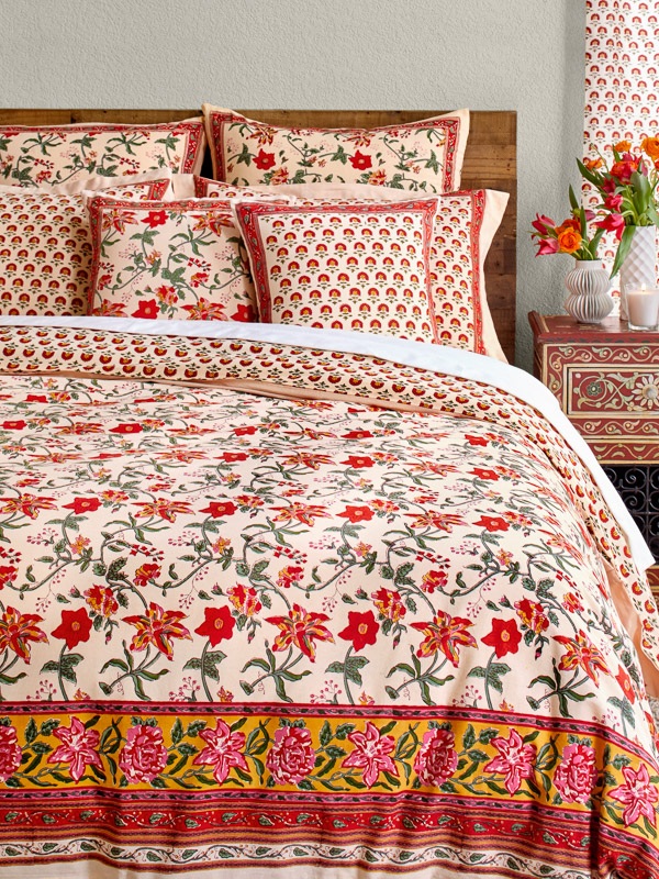 Tropical Garden ~ Colorful Country Floral Duvet Cover