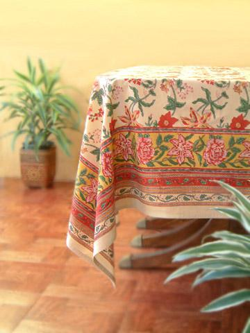 Tropical Garden ~ Colorful Country Cottage Floral Table Cloth