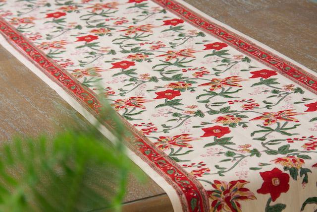 Tropical Garden ~ Exotic Festive Floral Table Runner
